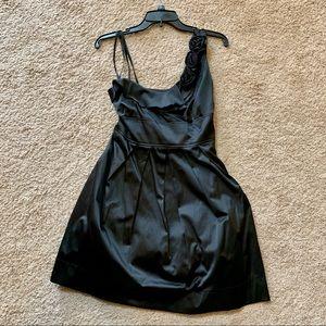 Asymmetrical Little Black Dress Roses Juniors 13